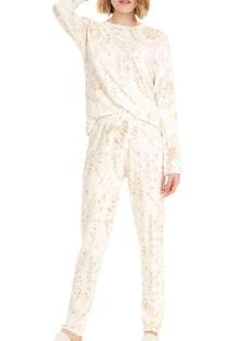Pijama Feminino Cor Com Amor 12521 Off-White