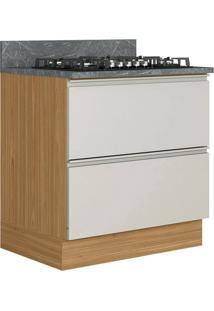 Balcão De Cozinha Para Cooktop Inova 1 Pt 1 Gv Off White Cinzel E Freijó