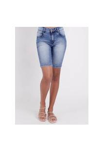 Bermuda Jeans Amuage Feminina Azul