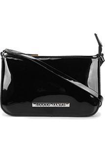 Bolsa Loucos & Santos Transversal Mini Bag Verniz Feminina - Feminino-Preto