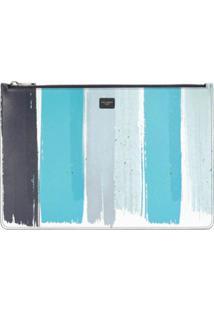 Dolce & Gabbana Clutch Com Estampa De Listras - Azul