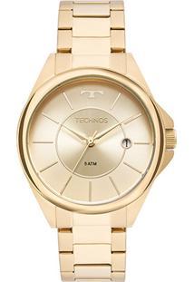Relógio Technos Analógico 2115Moo/4X Feminino - Feminino-Dourado