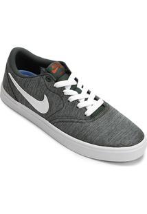 Tênis Nike Sb Check Solar Cnvs Prm Masculino - Masculino-Chumbo+Verde