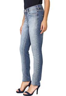 Calça Jeans Carmim Slim Violeta Basic Azul