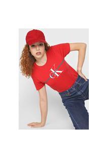 Camiseta Calvin Klein Jeans Issue Faixa Vermelha