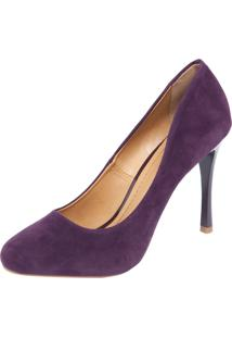 Scarpin Dafiti Shoes Alpes Acamurçado Roxo