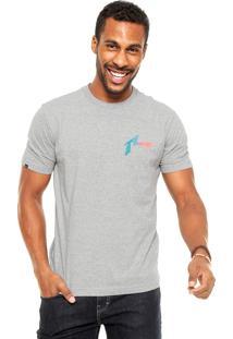 Camiseta Rusty Bc Surf Dot Cinza
