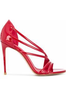 Le Silla Sandália Scarlet Com Salto 120Mm - Vermelho
