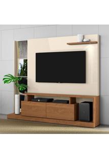 Estante Para Home Theater E Tv Até 65 Polegadas Dubai Nature E Off White