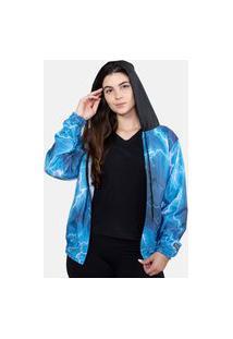 Jaqueta Corta Vento Chess Clothing Feminina Thunder Azul