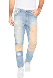 Calça Jeans Triton Slim Giorgio Azul