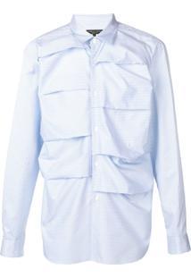 Comme Des Garçons Homme Plus Folded Stripe Shirt - Azul