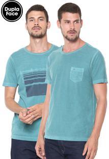 Camiseta Aramis Dupla Face Caligrafia Verde