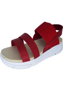 Sandália Plataforma Arrive Fashion Ivonete Vermelho
