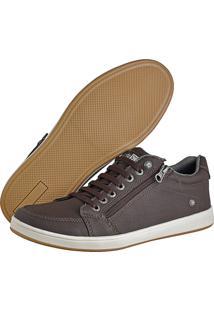 Sapatênis Cr Shoes Com Elástico E Zíper Leve Lançamento Café