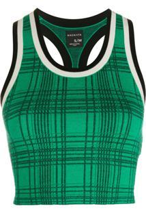 Nagnata Blusa Cropped Xadrez - Verde