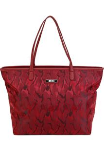 Bolsa Santa Lolla Shopper Camuflada Feminina - Feminino-Vermelho