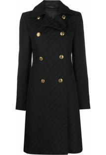 Givenchy Double-Breasted Coat - Preto