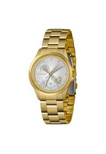 Kit Relógio Feminino Lince Lrgj107L-Km28S1Kx Analógico 5Atm + Conjunto Semijóia | Lince | Dourado | U