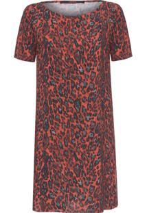 Vestido T-Shirt Onça Pintada - Animal Print