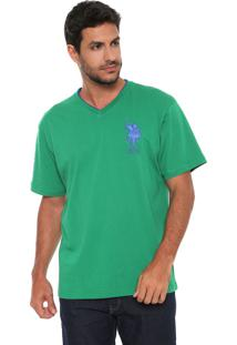 Camiseta U.S. Polo Logo Verde