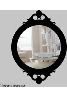 Espelho Retro- Espelhado & Preto- 30X22X5Cm- Ciacia Laser