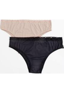 Kit 2 Calcinhas Feminina Biquíni Renda Plus Size Marisa