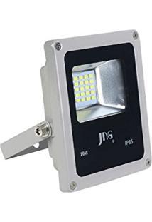 Refletor Jng Led Cinza 10W 6400K Fl01