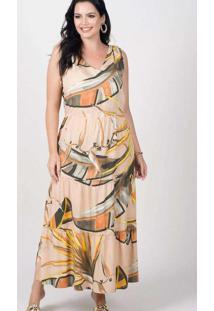 Vestido Longo Almaria Plus Size New Umbi Três Mari
