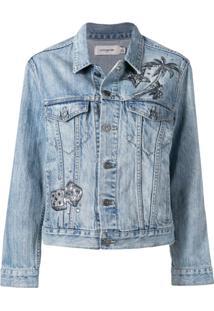 Coach Embroidered Denim Jacket - Azul