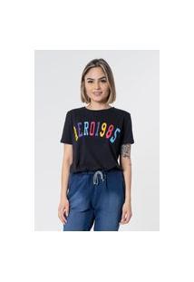Camiseta Aero Jeans 1985 Preta