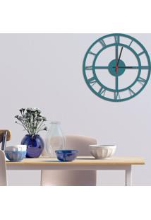 Relógio De Parede Decorativo Premium Números Romanos Vazado Ágata Médio
