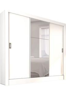 Guarda-Roupa Casal Com Espelho Bahia Iii 3 Pt 4 Gv Branco