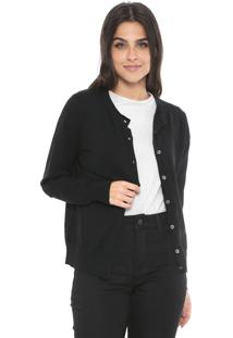 Cardigan Banana Republic Tricot Stretch Preto
