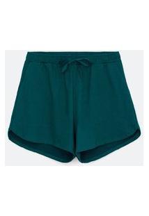 Short Básico Em Moletom Curve & Plus Size | Ashua Curve E Plus Size | Verde | G