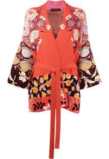 Etro Cardigan Com Transpasse E Estampa Floral - Rosa