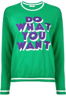 P.A.R.O.S.H. Suéter 'Do What You Want' - Verde