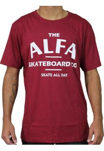 Camiseta Alfa Skate Co. Bordo