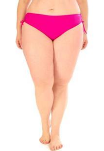 Calcinha Regulável Plus Size Acqua Rosa Pink