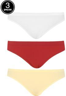 c9d5c3290 Calcinha Amarela Vermelha feminina