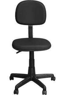 Cadeira Pethiflex Cs-02 Secretária Giratória Couro Preto