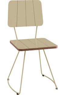 Cadeira Costela Bege Daf