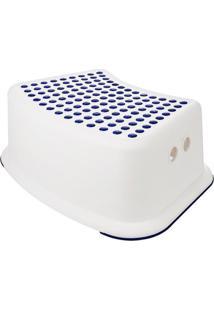 Banquinho De Banheiro 1 Degrau Kababy Azul