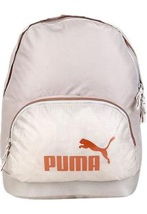 Mochila Puma Wmn Core Seasonal Backpack - Unissex-Areia