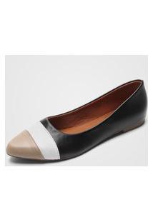 Sapatilha Dafiti Shoes Recorte Preta