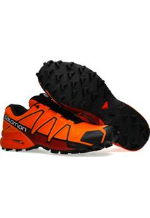 Tênis Salomon Masculino Speedcross 4 Laranja/Vermelho 42