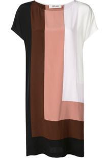 Dvf Diane Von Furstenberg Vestido Danika Color Block - Branco