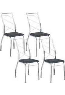 Cadeira 1710 Cromada 04 Unidades Jeans Carraro