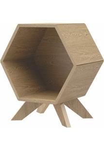 Mesa Lateral Hexagonal Dolce Cor Carvalho - 56365 - Sun House