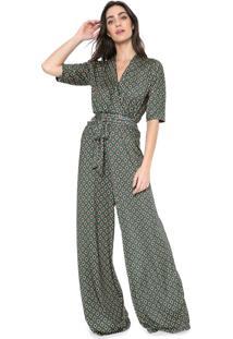 Macacão Ana Hickmann Pantalona Amarração Verde